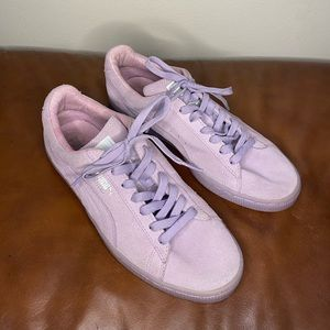 Puma Lavender Suede Sneakers Size 8